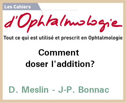 Presbytie : comment doser l'addition ?